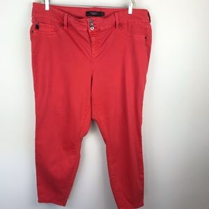 Torrid Denim Jeans Red Plus Size 26 F220